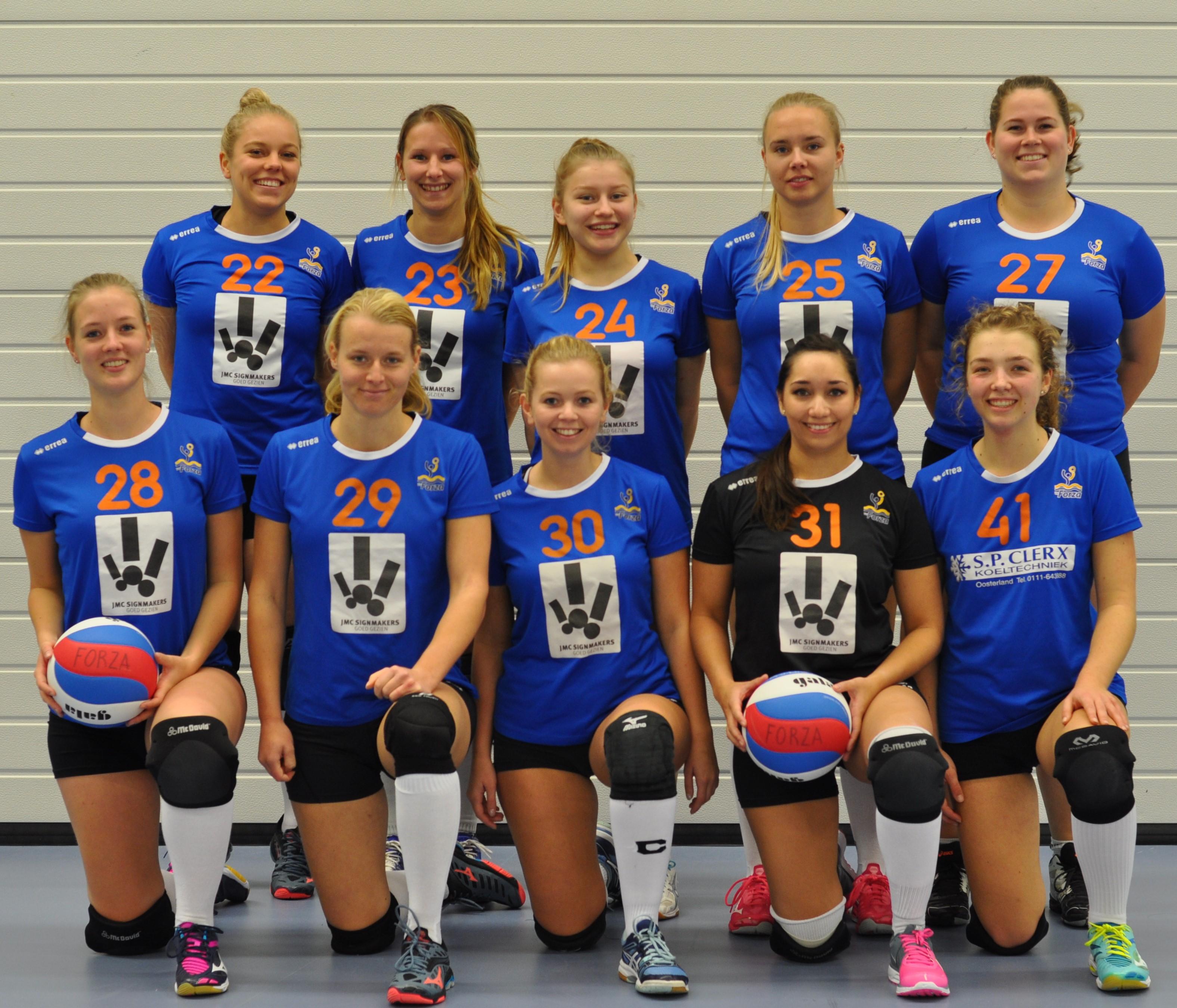 Dames 2 Forza Schouwen-Duiveland volleybal