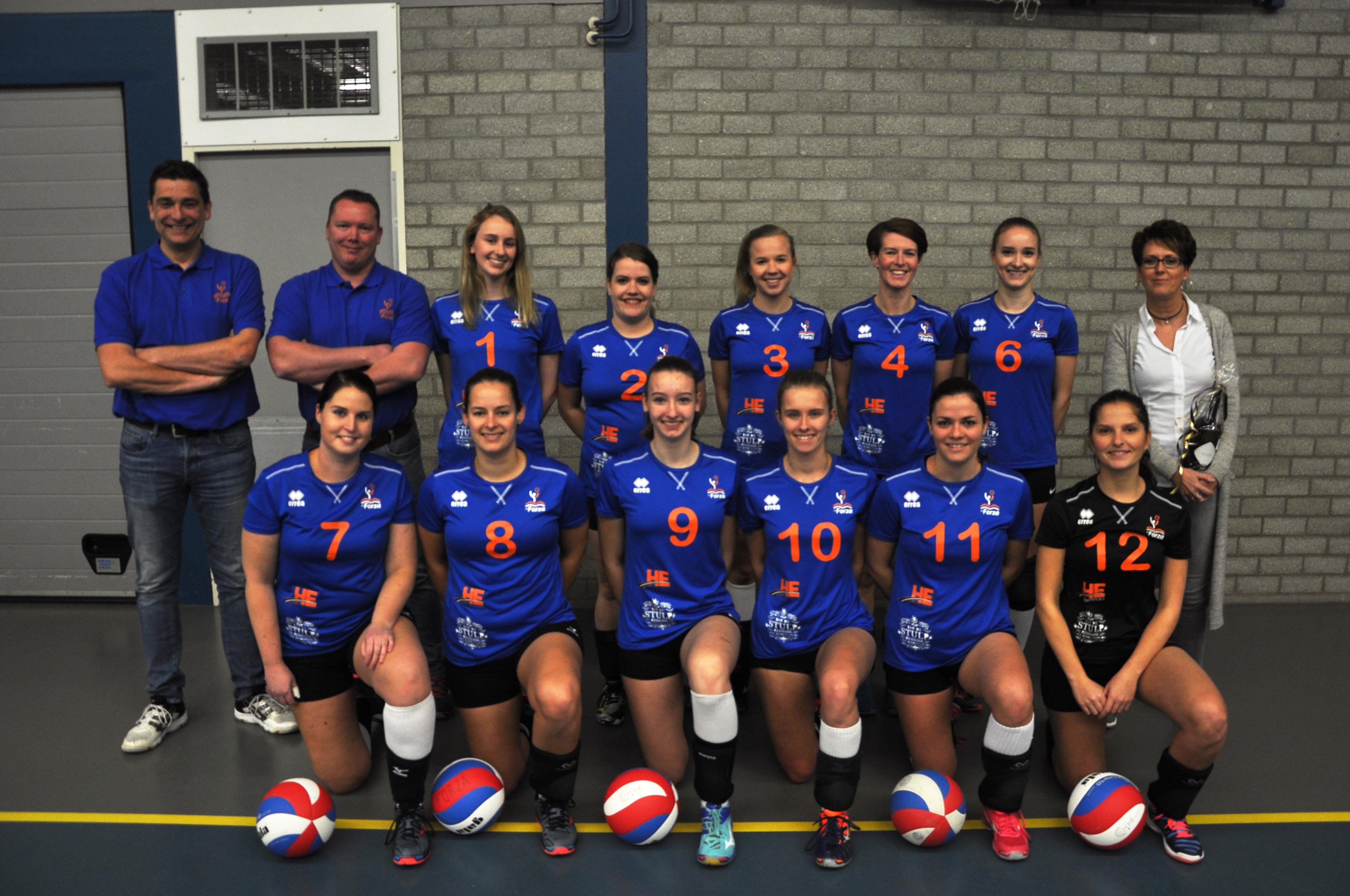 teamfoto forza dames 1 met sponsor he logistics 2019
